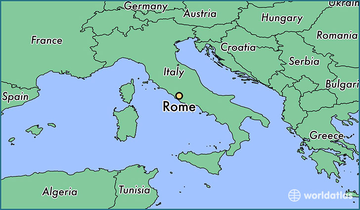 Where is rome italy rome lazio map worldatlas map showing the location of rome gumiabroncs Gallery