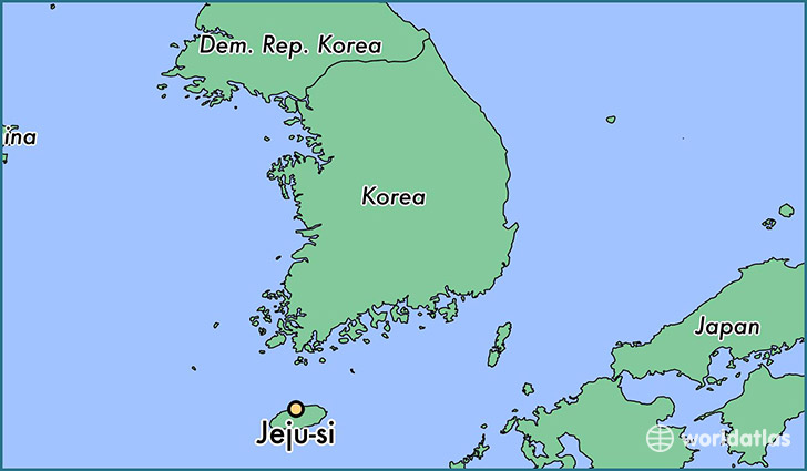 map showing the location of Jeju-si