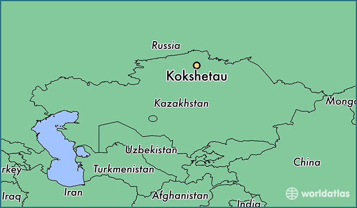 map showing the location of Kokshetau