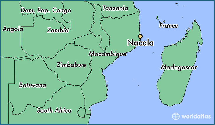 map showing the location of Nacala