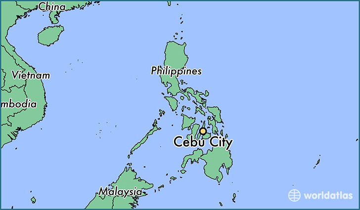 Where is cebu city the philippines cebu city central visayas map showing the location of cebu city gumiabroncs Image collections