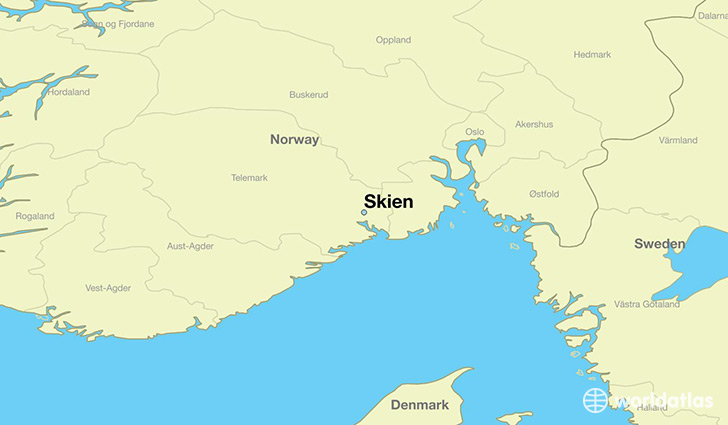 Where Is Skien Norway Where Is Skien Norway Located In The - Norway map world