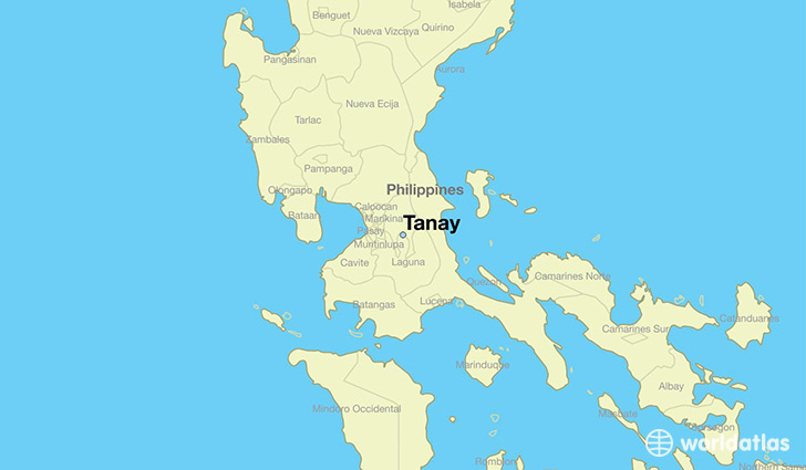 map showing the location of Tanay