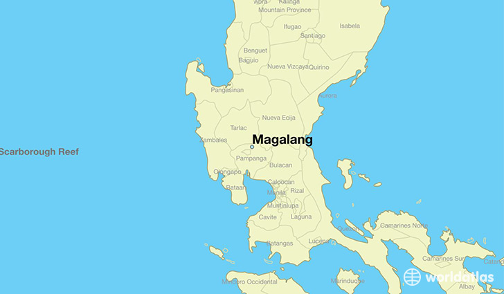 map showing the location of Magalang