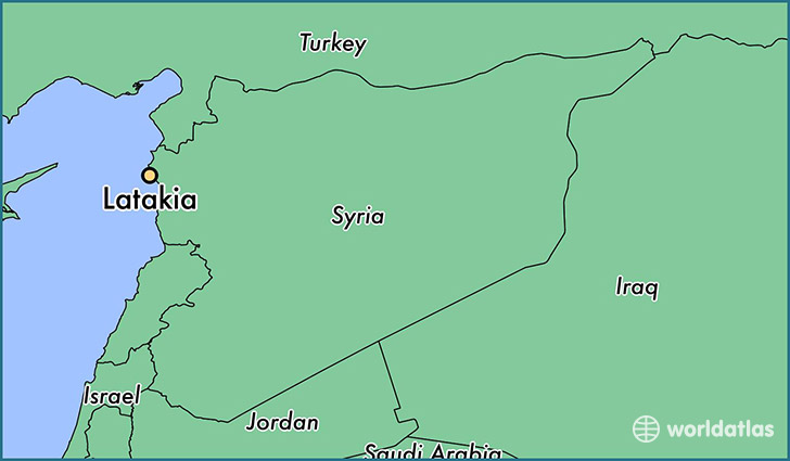 map showing the location of Latakia