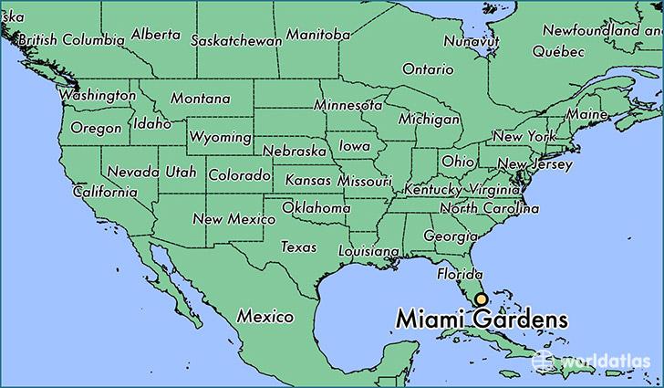 Where is Miami Gardens FL Miami Gardens Florida Map