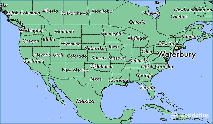 Where Is Waterbury CT Where Is Waterbury CT Located In The - Connecticut on map of usa