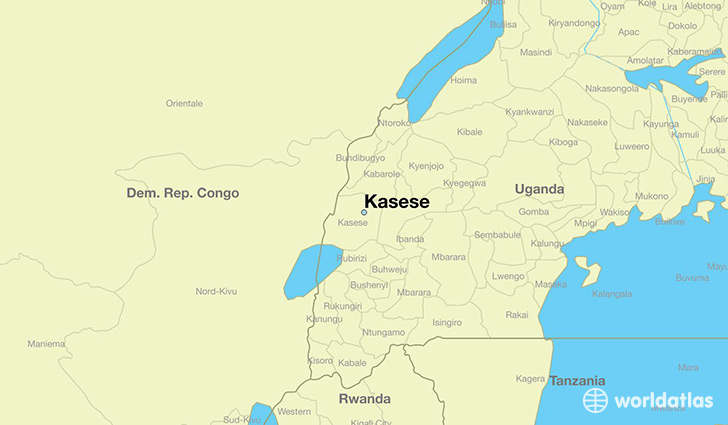 map showing the location of Kasese