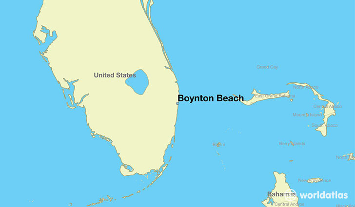 map showing the location of Boynton Beach