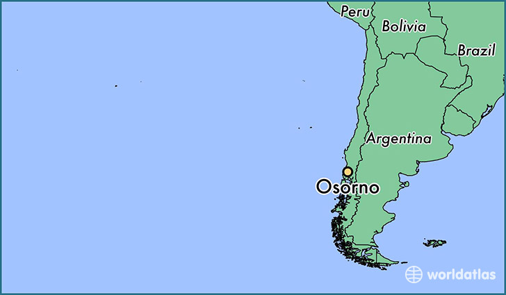 map showing the location of Osorno