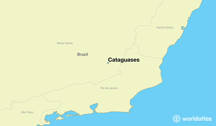 map showing the location of Cataguases