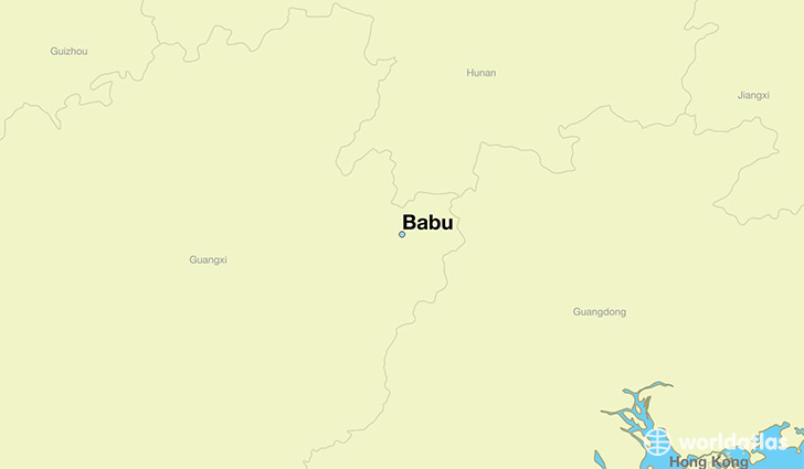 map showing the location of Babu