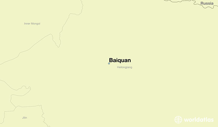 map showing the location of Baiquan