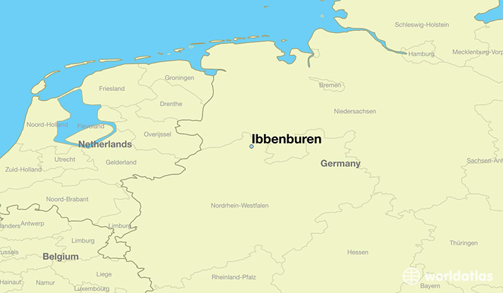 map showing the location of Ibbenburen