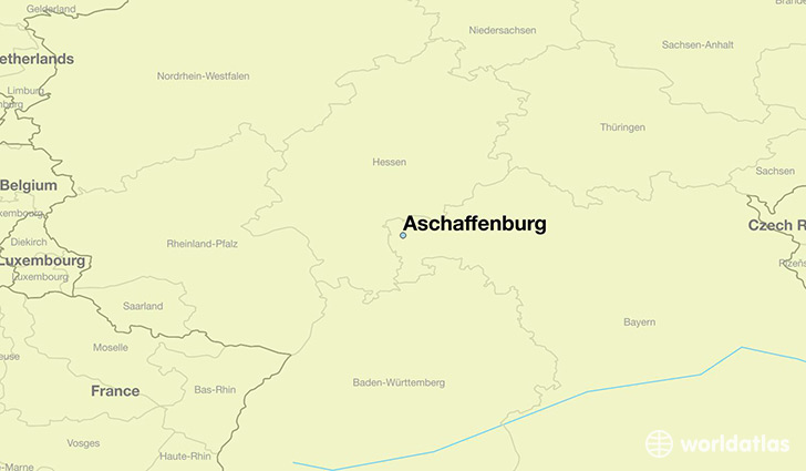 map showing the location of Aschaffenburg
