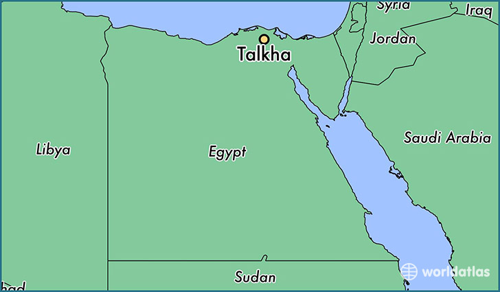 map showing the location of Talkha