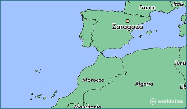 Where is Zaragoza, Spain? / Zaragoza, Aragon Map   WorldAtlas.com