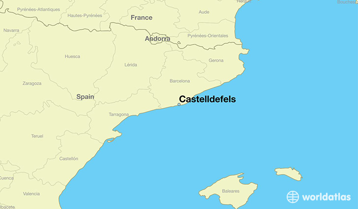 map showing the location of Castelldefels