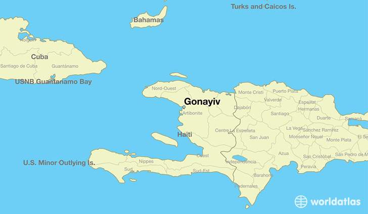 map showing the location of Gonayiv