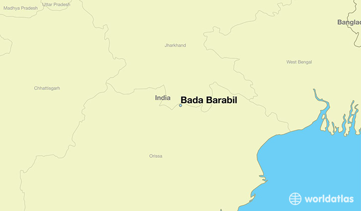 map showing the location of Bada Barabil