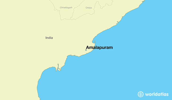 map showing the location of Amalapuram