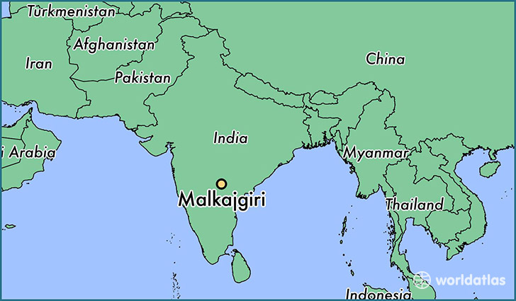 map showing the location of Malkajgiri