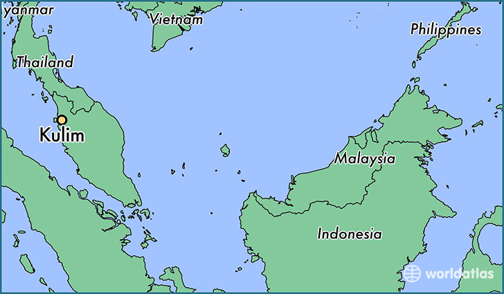map showing the location of Kulim