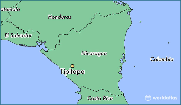 map showing the location of Tipitapa