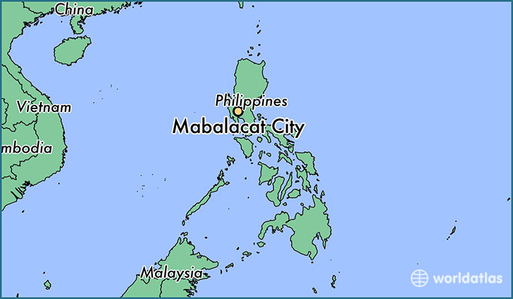 map showing the location of Mabalacat City