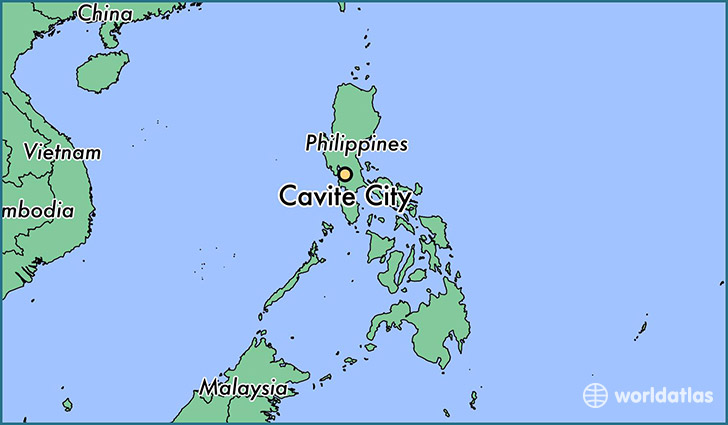 map showing the location of Cavite City