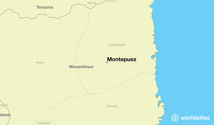 map showing the location of Montepuez