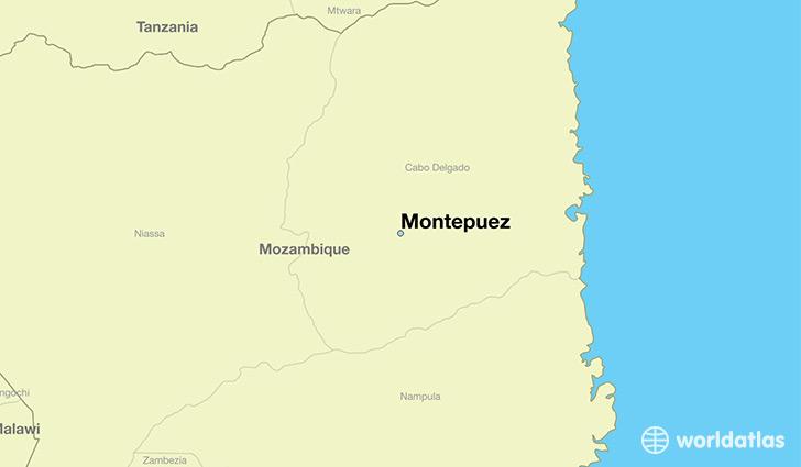 Where is Montepuez Mozambique Montepuez Cabo Delgado Map