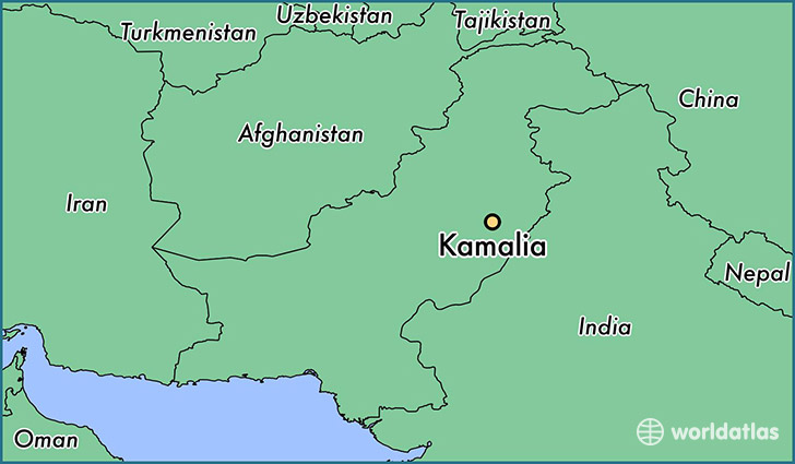 map showing the location of Kamalia
