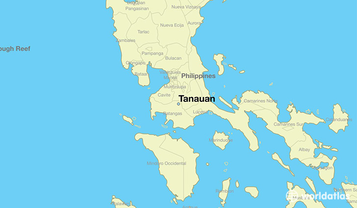 map showing the location of Tanauan