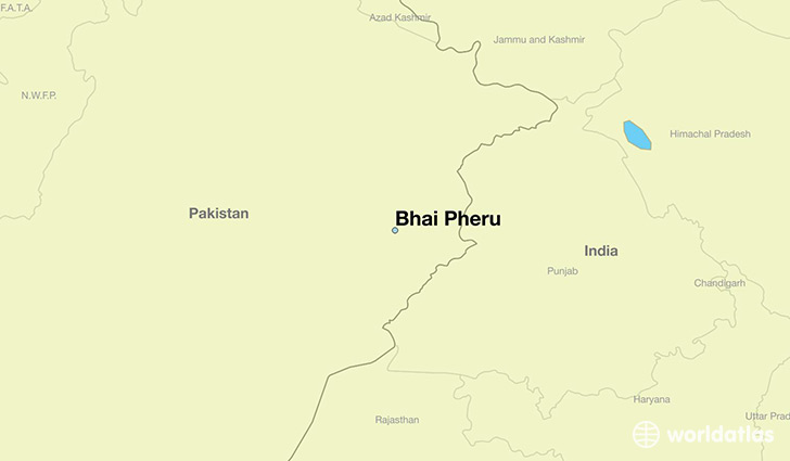 map showing the location of Bhai Pheru