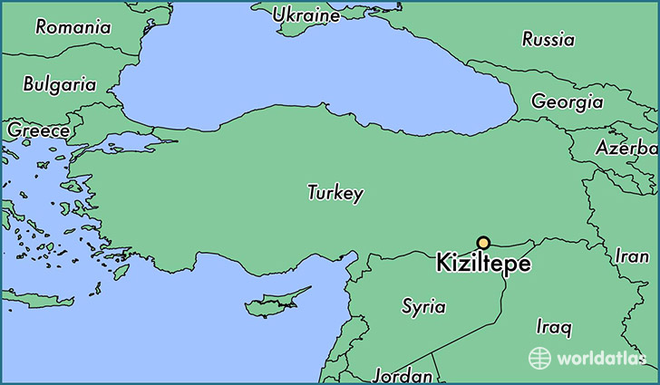 map showing the location of Kiziltepe