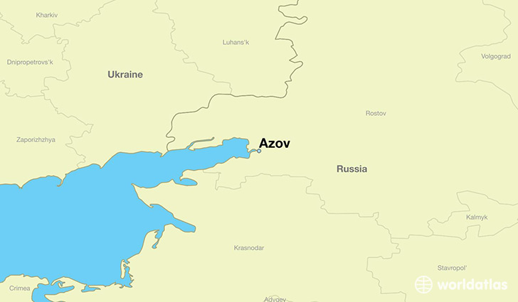 map showing the location of Azov