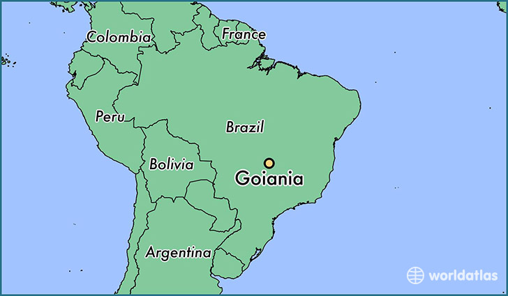 map showing the location of Goiania