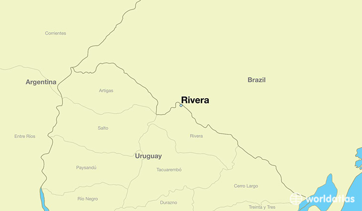 map showing the location of Rivera