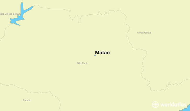 map showing the location of Matao