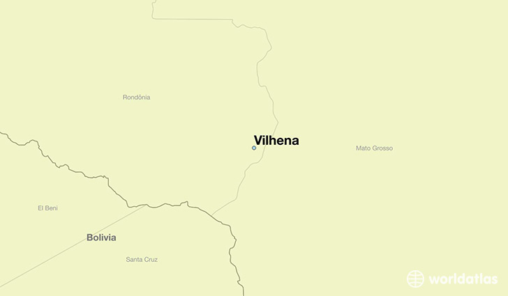 map showing the location of Vilhena