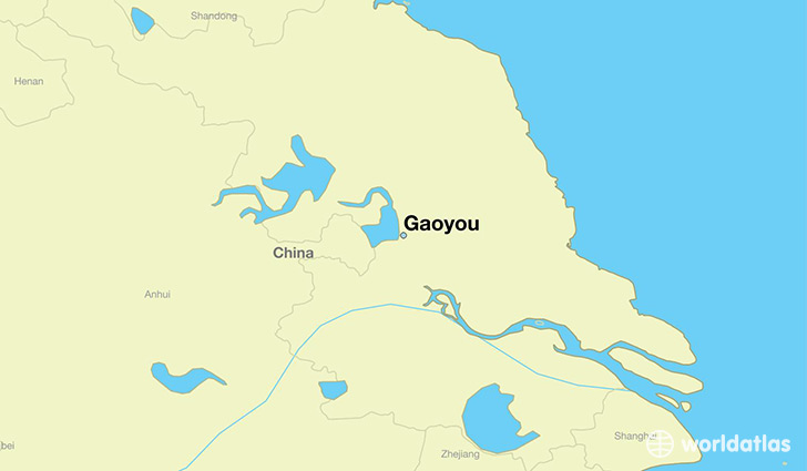map showing the location of Gaoyou