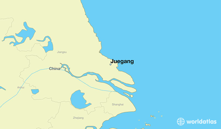 map showing the location of Juegang