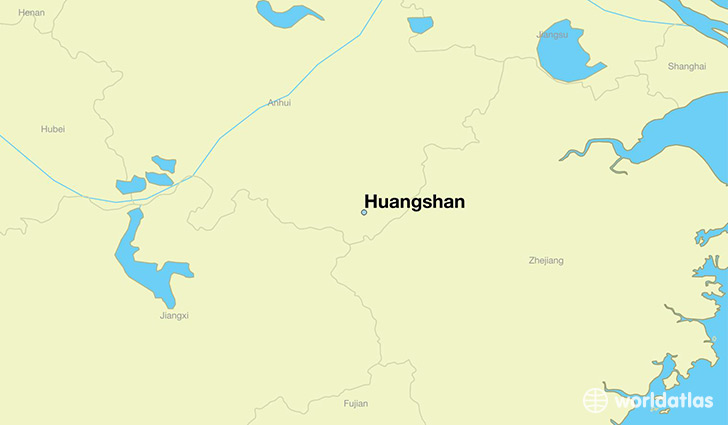 map showing the location of Huangshan