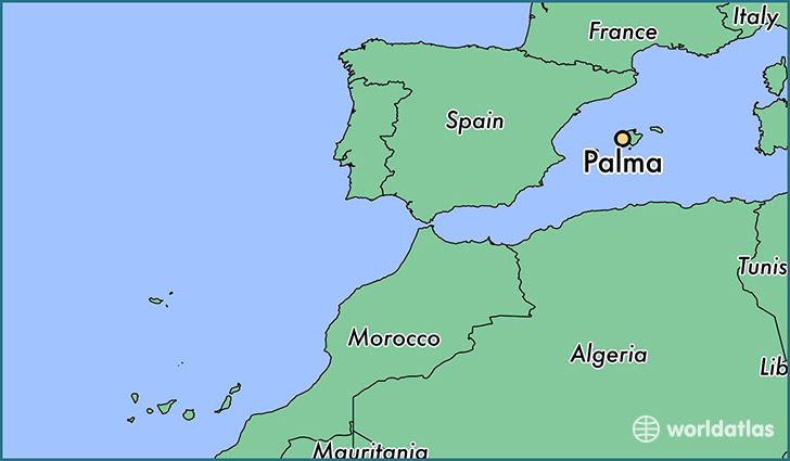 map showing the location of Palma