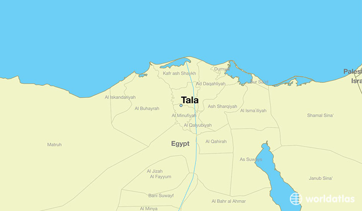map showing the location of Tala