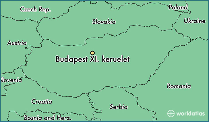map showing the location of Budapest XI. keruelet