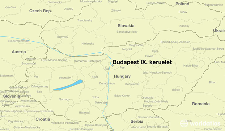 map showing the location of Budapest IX. keruelet
