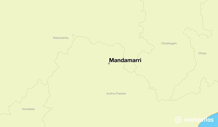 map showing the location of Mandamarri