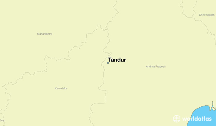 map showing the location of Tandur